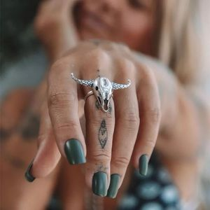 Just In🎉Cow Head Bohemian Adjustable Ring